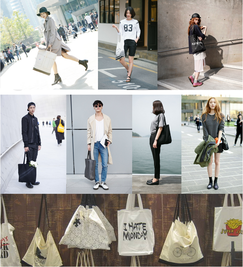 Seoul Street Style Featuring Totes