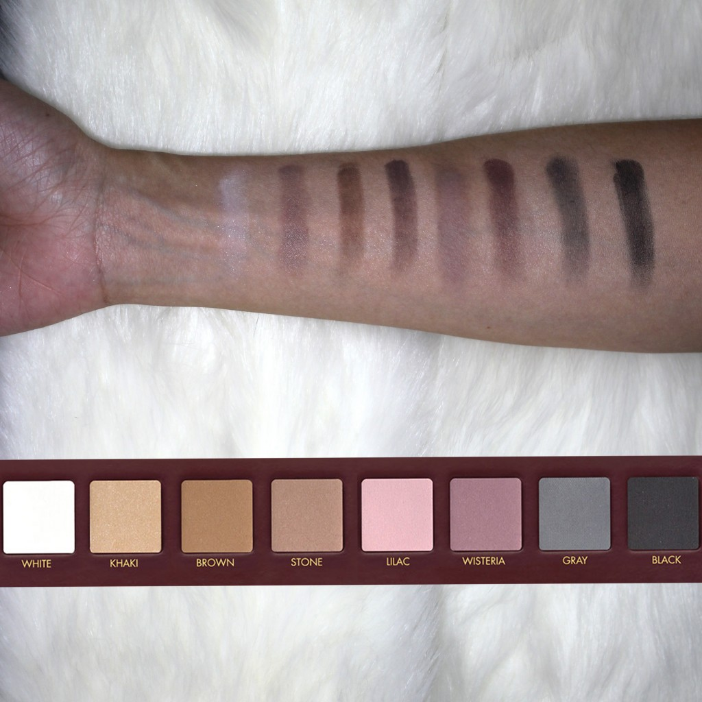 Swatches of the colors for Row 2 of Lorac Mega Pro Palette