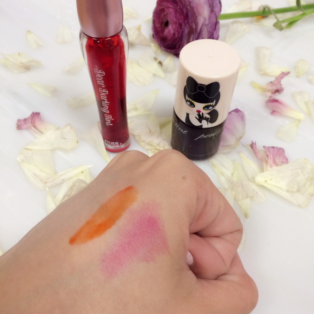 Korean Lip Tint Swatches for Etude House & Peripera