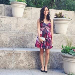 floral bardot dress wedding guest outfit for summer wedding