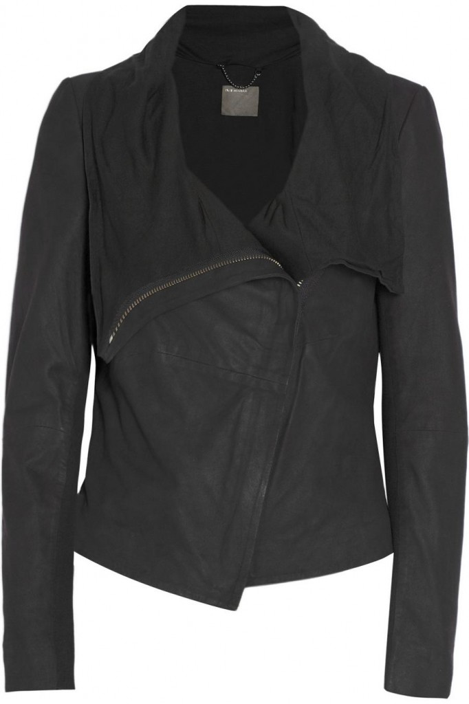 Muubaa Sinoia Draped Leather Jacket